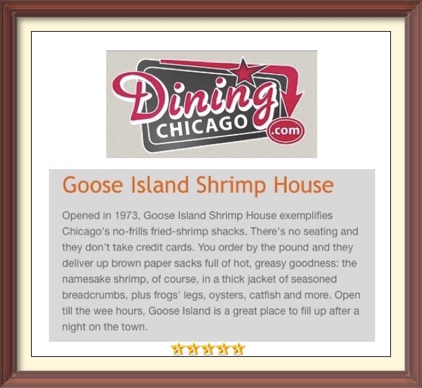 Goose Island Shrimp House Dining Chicago Review